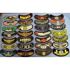 Harley Davidson HOG rocker patch - various years