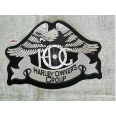 Harley Davidson HOG - large silver eagle back patch