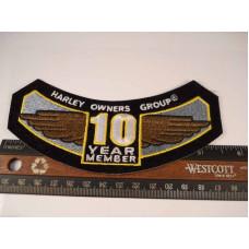 Harley Davidson HOG 10 year Member Patch (wings)
