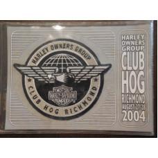 """2004 Harley Davidson HOG Club Richmond Patch 5"""""""
