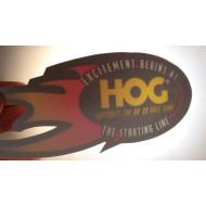 """Harley Davidson Excitement Begins at HOG Inside Decal 7"""""""