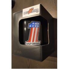Harley Davidson Number One Ceramic Coffee Mug