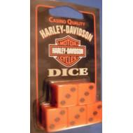 5 Harley Davidson Orange Dice HD-DCE