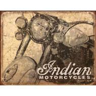 Plechová retro cedule motocykl Indian 40x30cm
