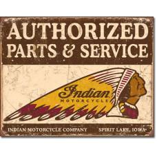 Authorized Parts & Service plechová cedule motocykl Indian 40x30cm