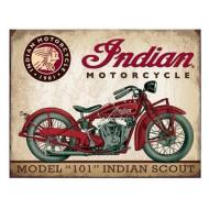 Plechová cedule motocykl 101 Indian Scout 40x30cm