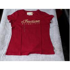 Červené dámské triko Logo Crew XL