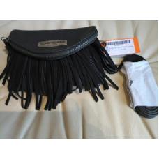 Kožená kabelka s třásněmi Harley Davidson FS85636L