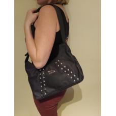 Harley-Davidson Womens Leather Handbag Soft Studded Shoulder Bag ZHD663