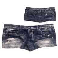 Kalhotky jako modré džínové šortky