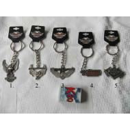 Harley Davidson - kovová klíčenka, výběr z 5 druhů