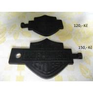 Harley Davidson - gumová klíčenka - černá (různé druhy)