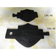 Harley Davidson - rubber keychain - black (various dealers)