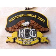 Harley Davidson HOG - gumová klíčenka Rally 2001