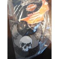 Harley Davidson gumová klíčenka Skull - lebka s křídly