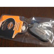 Harley Davidson klíčenka psí známka Bar & Shield