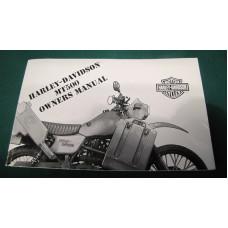 Harley Davidson MT500 Owners manuál