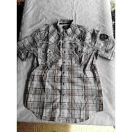 Harley-Davidson Men's Detailed Short Sleeve Plaid Woven Shirt, 96115-16VM Large