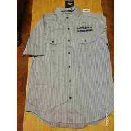 Harley-Davidson Men's Wrinkle-Resistant Striped Short Sleeve Shirt 96413-17VM, Medium