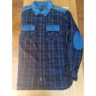 Harley-Davidson Men's Denim Accent Plaid Shirt Long Sleeve, Blue, 96485-16VM size XL, XXL