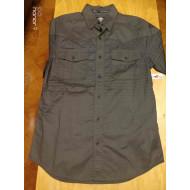 Harley-Davidson Men's Multi-Stripe Short Sleeve Woven Shirt, Olive 96508-17VM, Size M, L