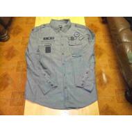 Harley-Davidson Men's Shirt Long Sleeve, gry 96565-17VM, size XXL