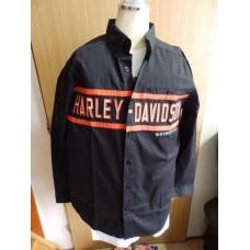 99082-14VM Harley-Davidson Men's Chest Stripe Long Sleeve Shirt M