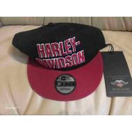 Harley-Davidson Men's baseball cap, Black + Red 97852-19VM