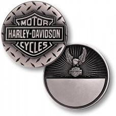 Harley Davidson Challenge Coin Diamond Plate Eagle - 60992