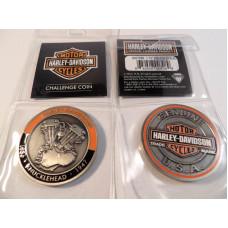 Harley Davidson Challenge Coin Knucklehead