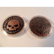 Mince / medailon Harley Davidson Motorcycles lebka Willie G Skull