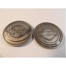 Harley Davidson HOG Challenge Skull Coin