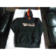 Black Harley-Davidson Men's Pullover Hoodie Sweatshirt, size XL