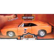 Harley-Davidson model oranžový 1969 Dodge Charger