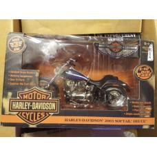 Diecast Model Harley-Davidson 2003 Softail Deuce, 100th Anniversary,  Working Suspension, 1:10