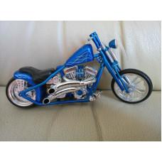 Diecast motorcycle Model Blue Harley West Coast Choppers 1:18