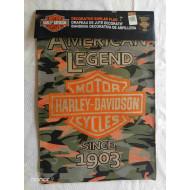 "Camo B&S Burlap Garden Flag 14B4900B 18"" x 13"", Harley Davidson American Legend"