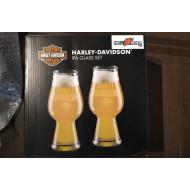 Harley-Davidson Etched H-D Text IPA Glass Set - Set of 2 - 16 oz. HDL-18795
