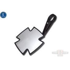 EU Approved Black Maltese Iron Cross Mirror E-mark