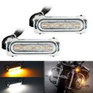 LED Fog Lights for Harley Davidson Engine Guard - Chrome
