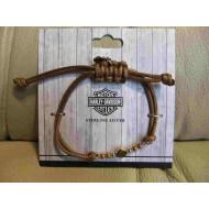 Harley-Davidson Cord Bracelet - Brown