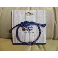 Harley-Davidson Cord Bracelet - Blue