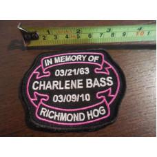 Nášivka na památku Charlene Bass - Richmond Hog 1963-2010