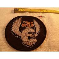 Motorkářská nášivka Harley Mild or Wild Inc. 80.léta lebka s křídly