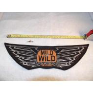Velká motorkářská nášivka Harley Mild or Wild Custom Motorcycles Inc. 80.léta 30cm
