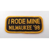 Nášivka Harley motosraz I rode mine Milwaukee 1998, 10cm
