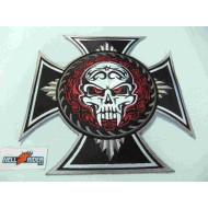 "XLarge Biker Skull Back Patch 9"" x 9"" - new"