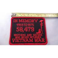Memory of Vietnam War 1959-75 Patch