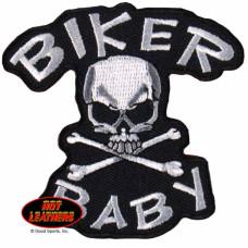 "Biker Baby Skull and Bone Patch3x3"""