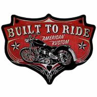 Nášivka Built to Ride American Kustom 13x10cm